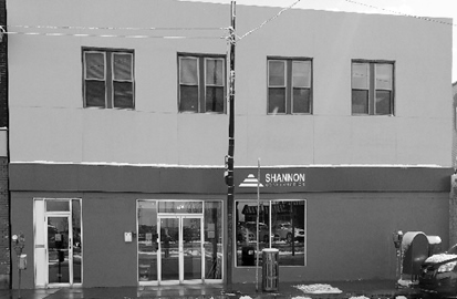 Shannon current building-black white